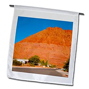 Jos Fauxtographee Ivins - Ivins, Utah home of the Big Red Mountain - 18 x 27 inch Garden Flag (fl_98274_2)