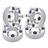 "4pcs 2"" Jeep 5x5 to 5x5 Wheel Spacers 1/2"" Studs for 5 Lug 5x127 Commander Grand Cherokee Wrangler 6061 T6 Alloy Aluminum"