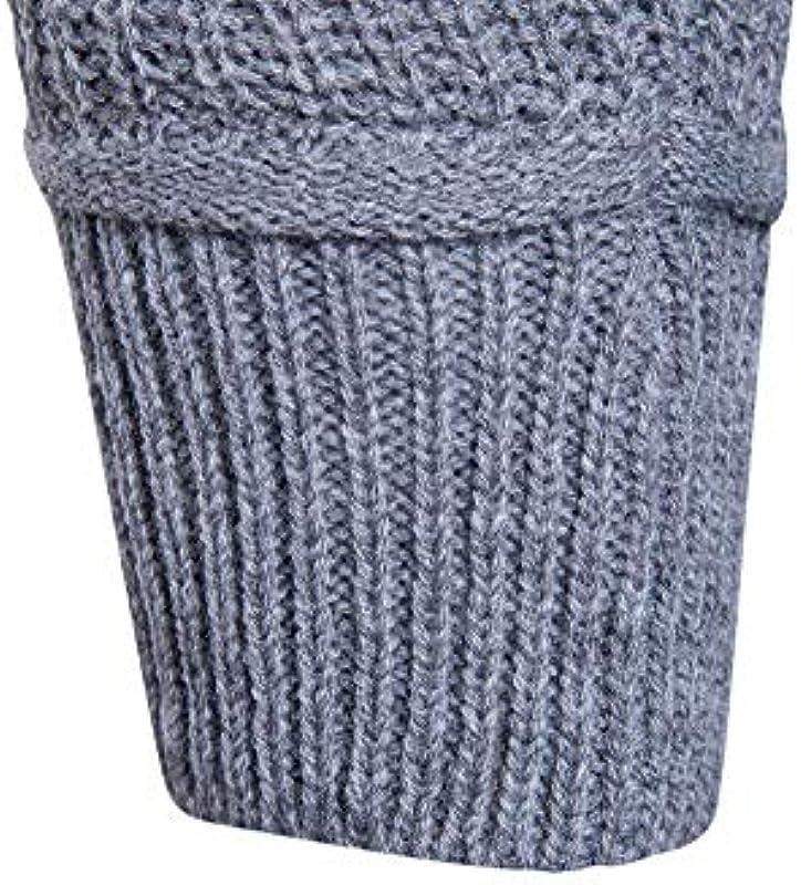 Saoye Fashion męski długi rękaw Slim Fit drobny sweter ubranie normalny lakier długi rękaw sweter dziergany jesień zima sweter dziergany: Odzież
