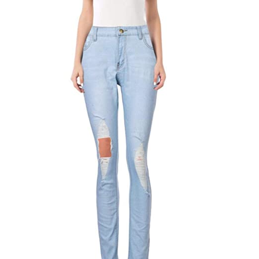 aa2d17982 scaling Jeans for Women Pants Womens Skinny Slim Trousers Corner  Embroidered Small Feet Elastic Jeans at Amazon Women s Jeans store