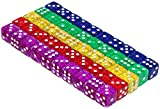 Tenzi Game Best Deals - 50 6-Sided Dice | 16mm | 5 Colors