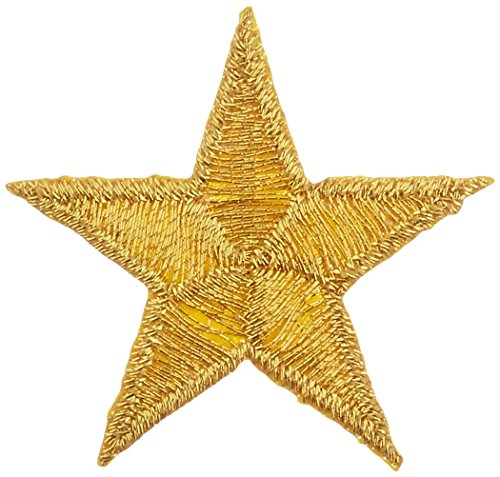 Wrights Iron-On Appliques-Gold Metallic Stars 1-1/4