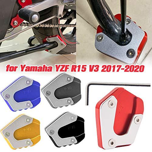 Lorababer Motorfiets YZFR15 Kickstand Foot Zijstandaard Enlarger stootkussen Plaat Accessoire Extensie CNC Geschikt voor…