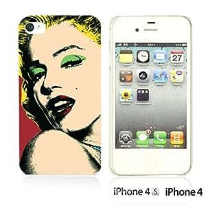 OnlineBestDigitalTM - Celebrity Star Hard Back Case for Apple iPhone 4S / Apple iPhone 4 - Marilyn Monroe