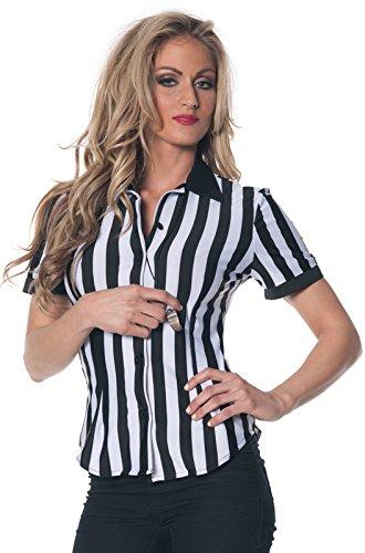 [Women's Plus Size Referee Shirt (3X)] (Referee Costume Plus Size)