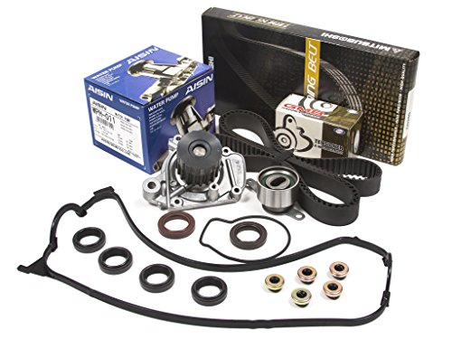 Evergreen TBK224MVCA2 96-00 Honda Civic 1.6 Seal D16Y Timing Belt Kit Valve Cover Gasket AISIN Water Pump