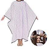 Salon Hair Cape for Hair Cutting,Waterproof Oilproof Salon Haircut Cape Barber Hairdressing Care Professionals (Diagonal Broad Stripe)