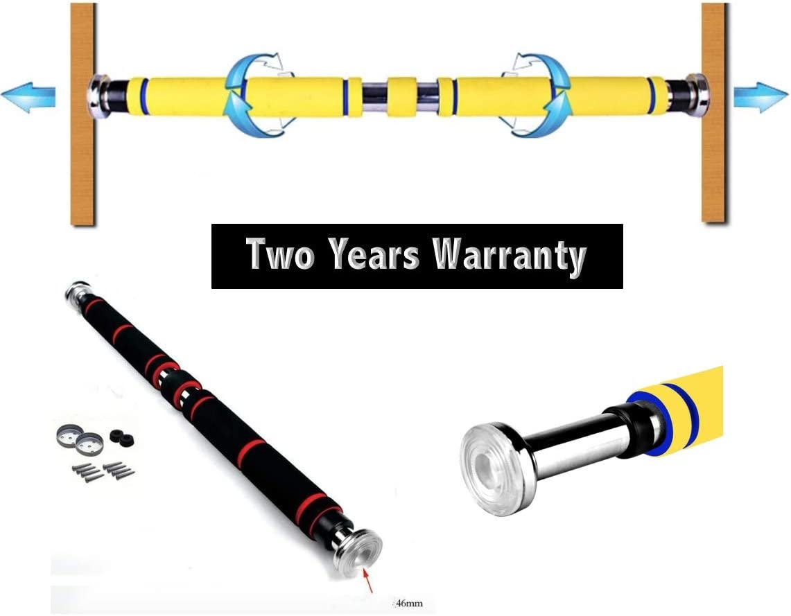 Arise Fitness Two Year Warranty Total Upper Body Workout Bar. Multi-Grip Chin-Up Pull-Up Bar, Heavy Duty Doorway Screw on, Trainer for Home Gym