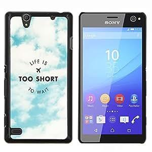 Dragon Case - FOR Sony Xperia C4 - life is to short - Caja protectora de pl??stico duro de la cubierta Dise?¡Ào Slim Fit
