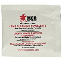 MCR Safety LCT Anti-Fog Anti-Static Lens Cleaning Towelette - 100 Wipes