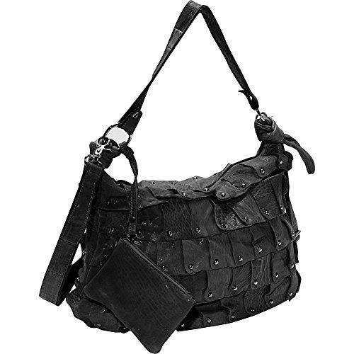 AmeriLeather Miao Leather Handbag (Black) ()