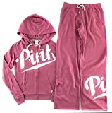Victoria's Secret PINK Hoodie and Sweat Pants Set Soft Begonia Large
