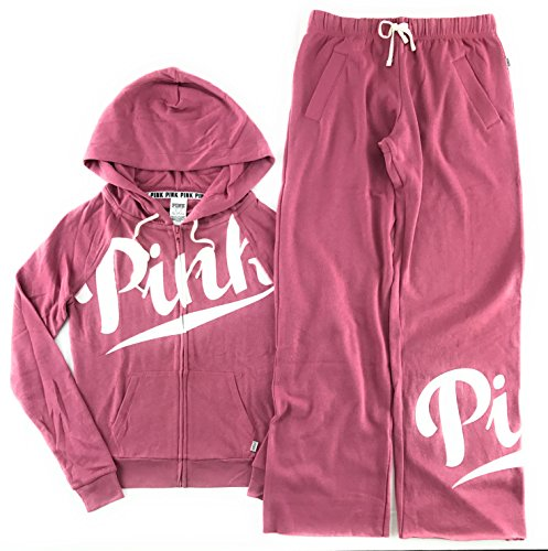 Victoria's Secret PINK Hoodie and Sweat Pants Set Soft Begonia Large by Victoria's Secret