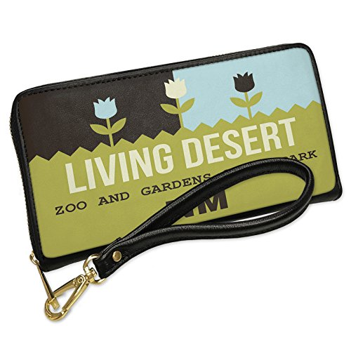 Wallet Clutch US Gardens Living Desert Zoo and Gardens State Park - NM with Removable Wristlet Strap Neonblond