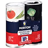 Mortons Salt 4 Ounce/McCormick Pepper 1.25 Ounce Double Pack, 5.25 Ounce