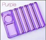 Transparent Nail Brush Pen Holder Stand Base Nail Art Brushes Display Rest Tools Equipment 4 Design Purple