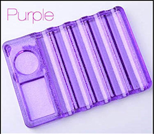 Transparent Nail Brush Pen Holder Stand Base Nail Art Brushes Display Rest Tools Equipment 4 Design Purple by Transfer Rose