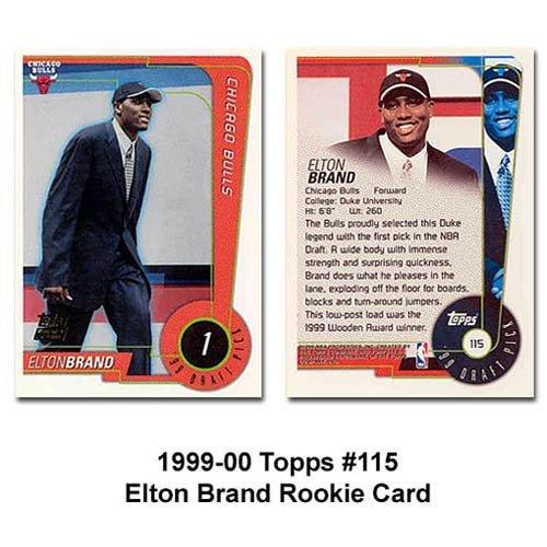 Topps Chicago Bulls Elton Brand 1999-2000 Rookie - Best Rookie Team 1999 Card