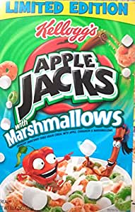 Kellogg's, Apple Jacks with Marshmallows, Limited Edition, 12.6oz Box (Pack of 4)