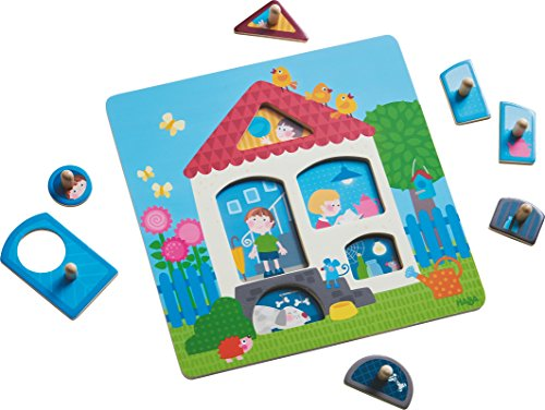 HABA Clutching Puzzle My Home | Jigsaw Puzzles for Children, peg Puzzle | 302527