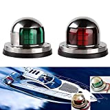 Gugou One Pair Marine Boat Yacht Light 12V Stainless Steel LED Bow Navigation Lights Pontoons Sailing Signal Lights
