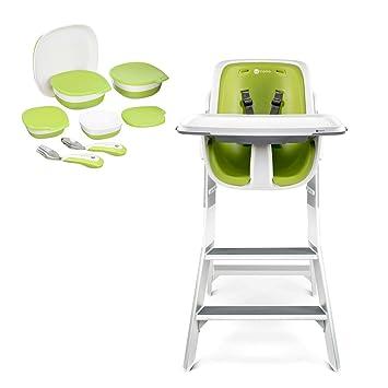 Awe Inspiring Amazon Com 4Moms High Chair White Green Starter Set Baby Ncnpc Chair Design For Home Ncnpcorg