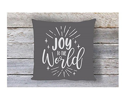 Joy to the World Pillowcase, Throw Pillow Cover, Cushion Cover, 16x16, Gift for Friend, Gift for Valentine 's Day (Easy Halloween Crafts Third Grade)