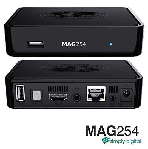 MAG 254 -- Set Top Box -- Updated MAG 250 -- IPTV OTT linux tv Box -- Streaming Media Player -- Full Hd TV -- Sold by Weetern Technology -- Authorized distributor by Infomir Mag 254