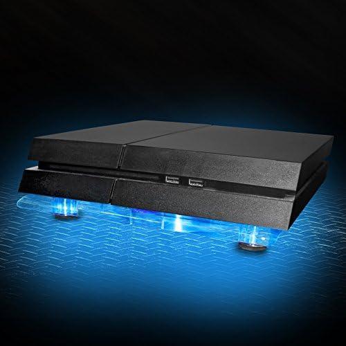 Eaxus®️ refrigerador ventilador de refrigeración PlayStation 4 - ❄️ Soporte de ventilador LED para PS4, PS4 Pro y otras consolas: Amazon.es: Videojuegos