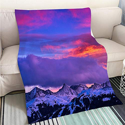 BEICICI Art Design Photos Cool Quilt Copper Mountain and Tenmile Range Mountain View Winter Sunset Sofa Bed or Bed 3D Printing Cool -