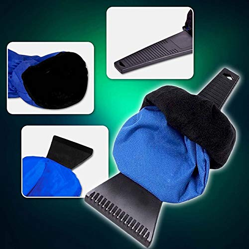 VT BigHome Premium Car Ice Scraper&Mitt for Car Windshield Snow Scrapers with Waterproof Glove Lined of Thick Fleece to Keep You Hands Warm