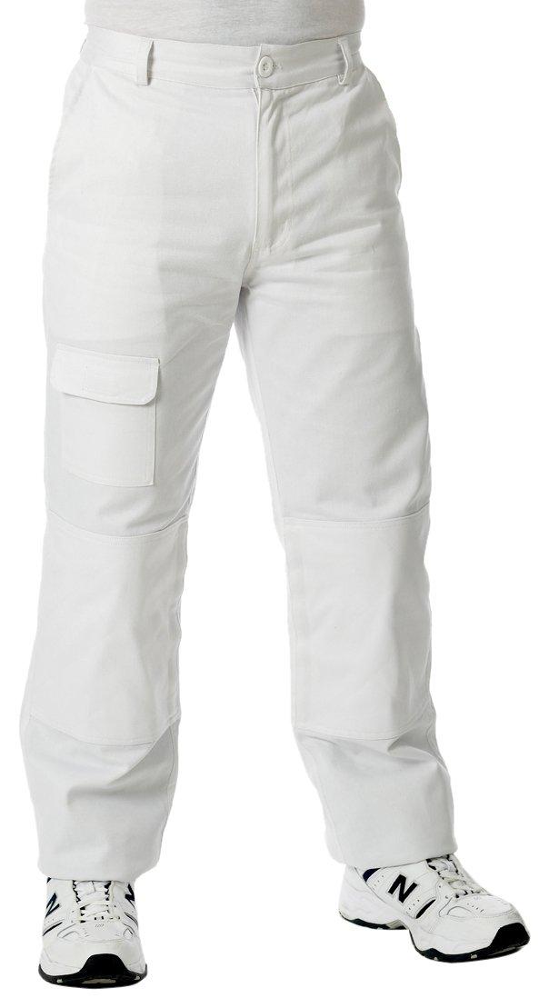 T-Class Workwear - Pantaloni da pittore, Taglia M, 86-91 cm, Bianco Harris 80911