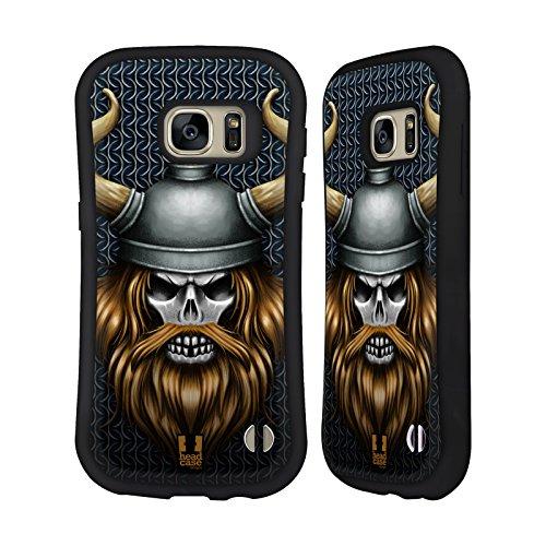 Head Case Designs Viking Skull Warriors Hybrid Case for Samsung Galaxy S7