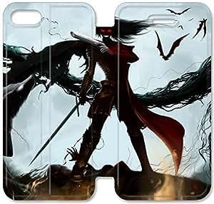 Hellsing M2G64W3 iPhone 6 6S Plus 5.5 del caso del tirón del cuero funda caso T2P78J2 Teléfono funda dura personalizada