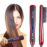 Best Cheap Hair Straighteners - Hair Straightening Brush, Ceramic Hair Straightener for Frizzy Review