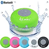Guppy Water Resistant Bluetooth Shower Speaker Wireless Portable, Kid-friendly, Built-in Control Buttons, Speakerphone, Powerful Suction Cup, w/Safety Lanyard - Best for Indoor & Outdoor Use (Green)