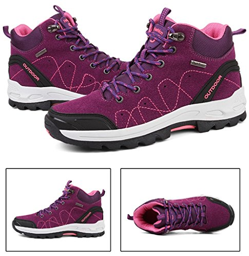2017 Herbst Winter Turnschuhe Paare Schuhe High Top Baumwolle Stiefel Plus Plüsch Warm Trekking Und Wandern Schuhe 36-44 Lila