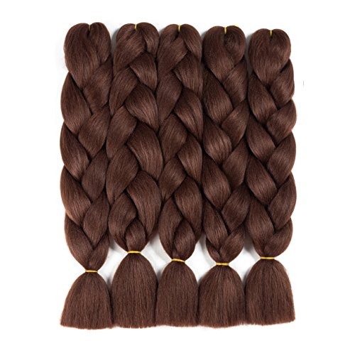 Alissa Jumbo Braiding Hair Extensions High Temperature Kanekalon Synthetic Ombre Twist Hair Multiple Tone Colored Jumbo Braiding Hair (24,33#)