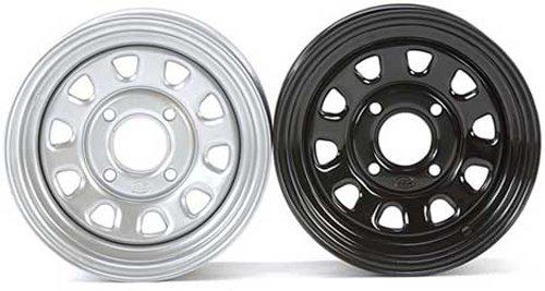 ITP Delta Steel 12X7 4+3 Offset 4/137 12mm Bolt Pattern Black ATV - UTV Wheel (Itp Wheels Atv)