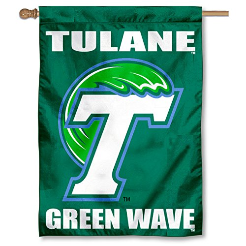 Tulane Green Wave Double Sided House Flag