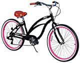 Fito Womens Marina Aluminum Alloy 7-Speed Beach Cruiser Bike