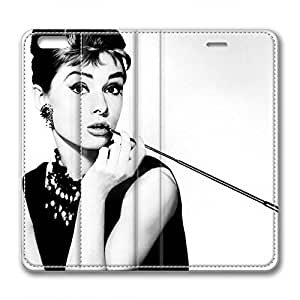 iPhone 6 Plus Soft High Quality PU Leather Case Easy To Clean Colored And Many Design Case Suit iPhone6 5.5 Inch Latest style Case Easy To Control Audrey Hepburn 27