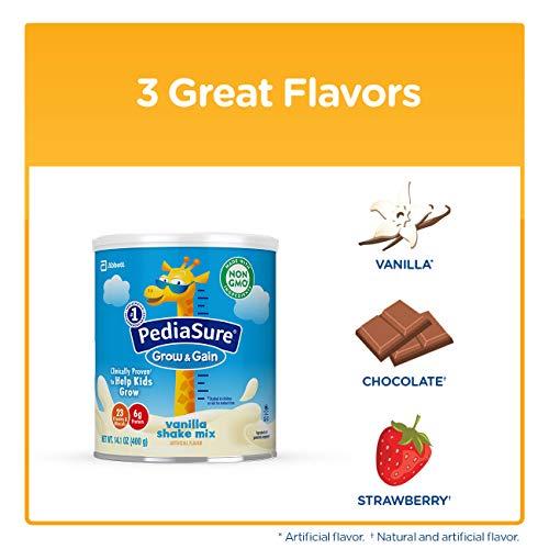PediaSure Grow & Gain Vanilla Shake Mix, Nutrition Shake for Kids, 14.1 oz, 6 count by Pediasure Powder (Image #11)