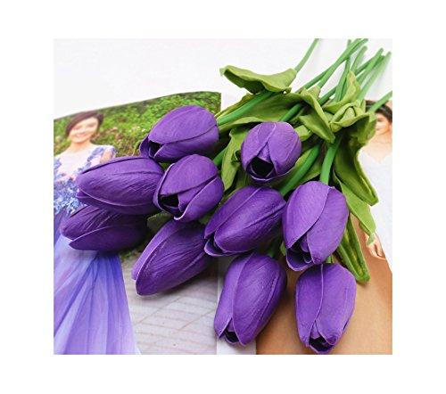 tutu.vivi Artificial Flowers Real Touch Tulips PU Tulips Flowers Arrangement Bouquet Wedding Bouquets Wedding Decor Hotel Party Event Christmas Decor set of 10
