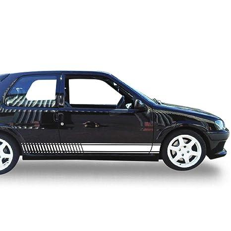 Amazon.com: Bubbles Designs Set of Sport Side Stripes Decal Sticker Vinyl Compatible with Peugeot 106 GTI XSi: Automotive