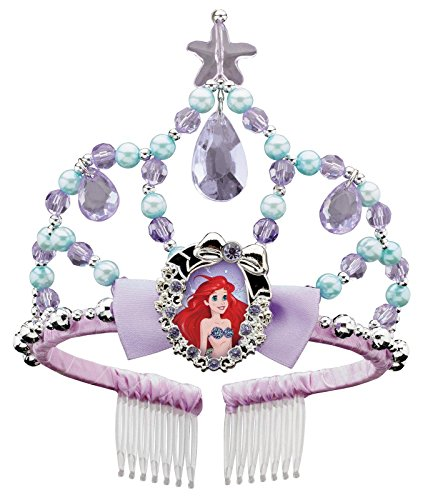 Ariel Classic Disney Princess The Little Mermaid Tiara, One Size Child - Ariel Costumes For Kids