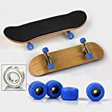 Toys : Maple Complete Wooden Fingerboard Metal Nuts Trucks - Basic Bearing Blue Wheel by SDIT TOYS