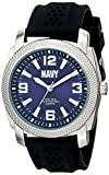 U.S. Navy Wrist Armor Men's 37400003 C21 Analog Display Quartz Watch with Black Silicone Strap