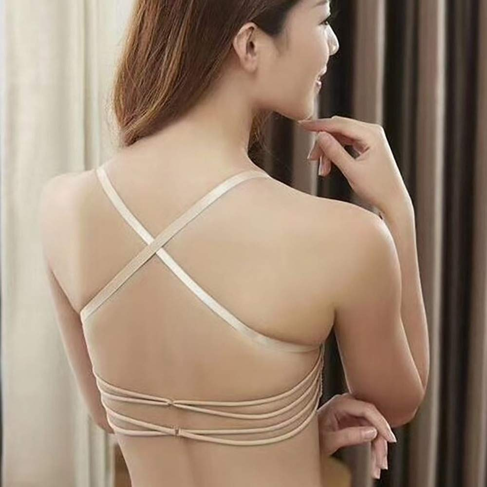 Toimothcn Women Wireless Bra with Front Closure Breathable Criss Cross Back Chest Sports Underwear
