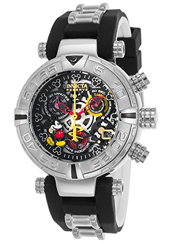 Invicta Women's 'Disney Edition' Swiss Quartz Stainless Steel and Silicone Casual Watch, Color:Two Tone (Model: 22736)